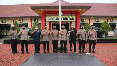 Polres Bintan ikuti Evaluasi Aplikasi Polri oleh Puslitbang Polri