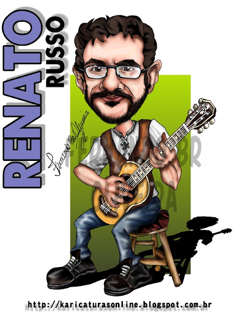 Caricatura de Renato Russo Vocalista Legião Urbana