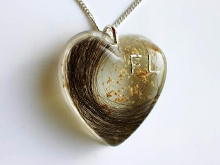 Hair and ashes heart shaped pendant