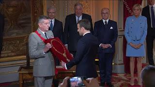 Réception d'un nouveau président (E.Macron.2017) et collier Grand Croix