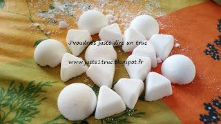 pastilles détartrantes désodorisantes wc zero dechet ecolo DIY bicarbonate soude acide citrique