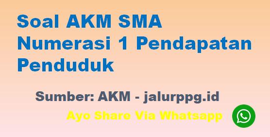 Soal AKM SMA Numerasi 1 Pendapatan Penduduk - www.jalurppg.id