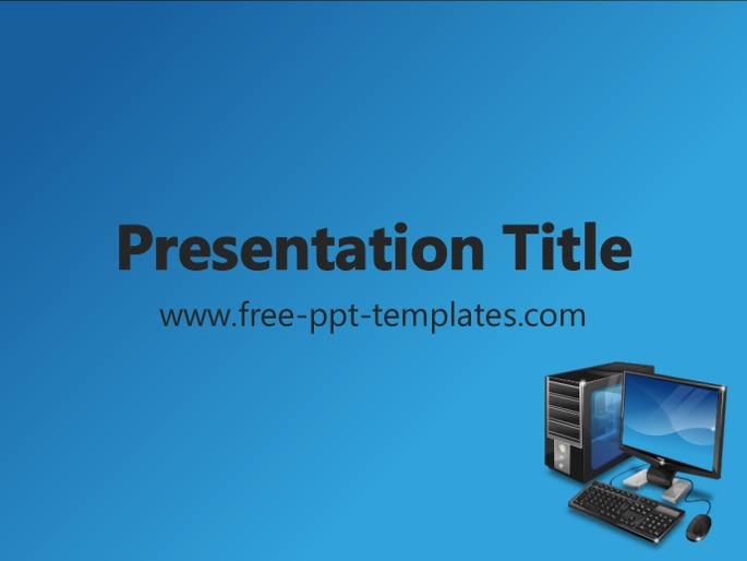 computer ppt template