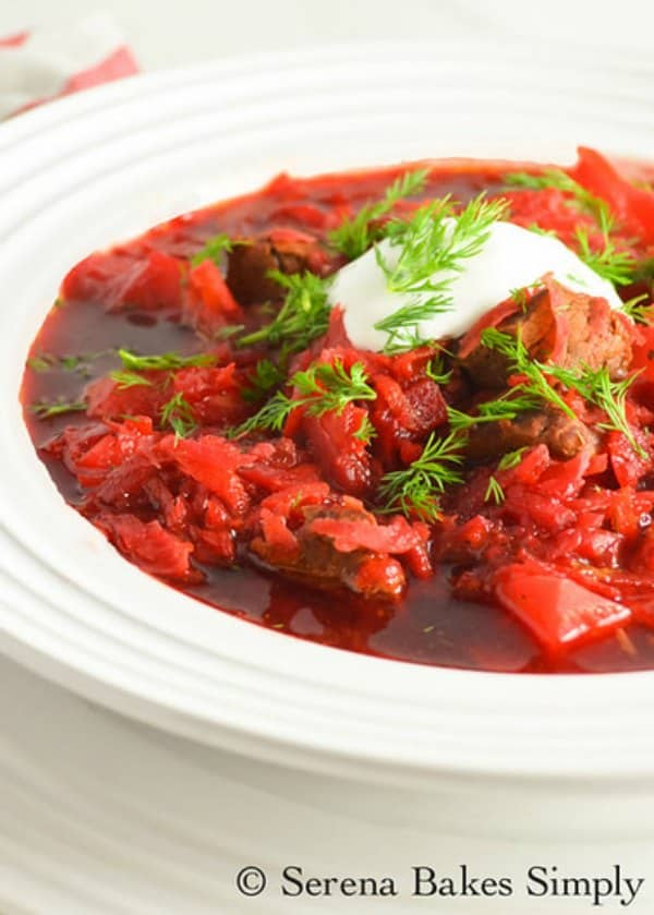 Borscht With Beef Serena Bakes Simply From Scratch