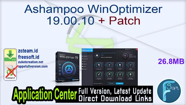 Ashampoo WinOptimizer 19.00.10 + Patch_ ZcTeam.id