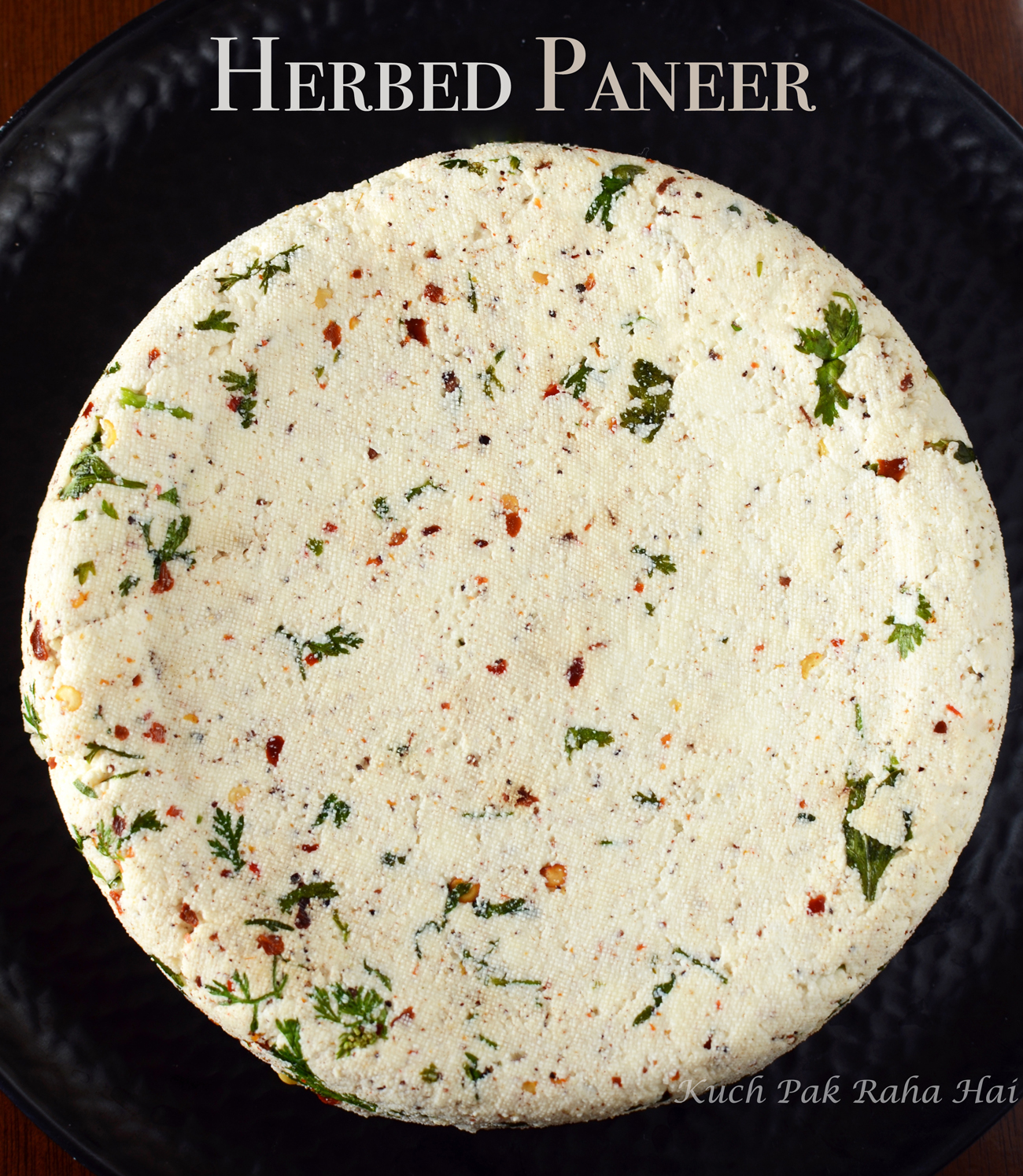 Herbed Paneer Masala Paneer with spices & herbs