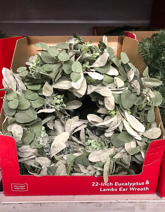 Walmart Eucalyptus and lambs ear wreath