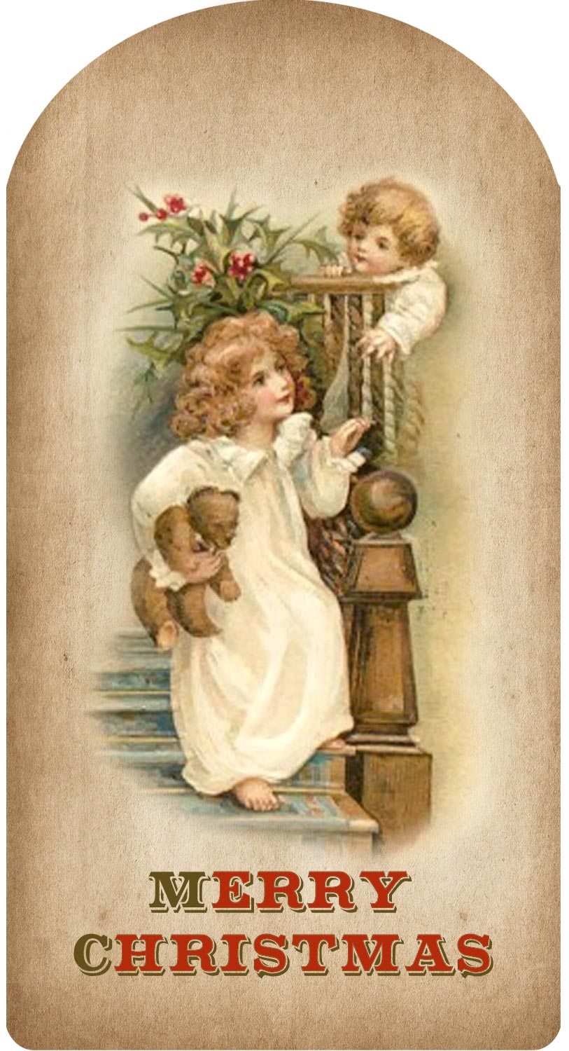 It is an image of Persnickety Vintage Christmas Labels to Print