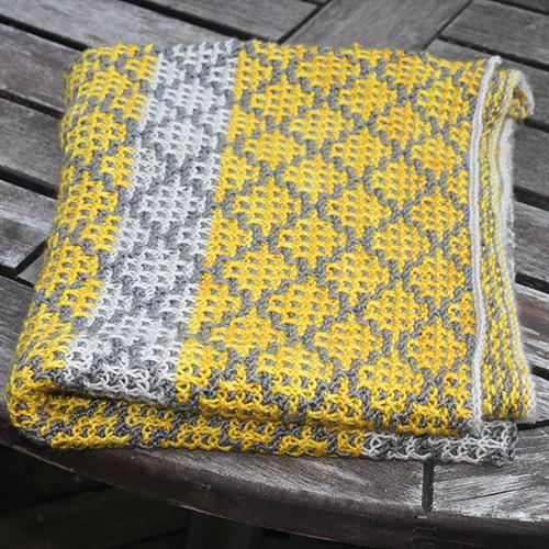 Mosaic Blanket free Knitting Pattern