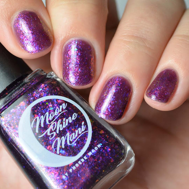 purple flakie nail polish