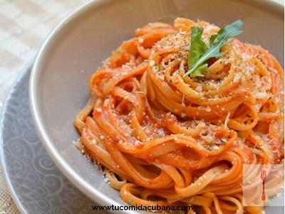 ✔️  Espaguetis en Salsa - Receta Cubana