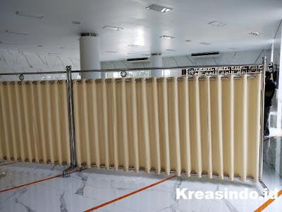Hijab Masjid Stainless pesanan Masjid At-Taqwa di Gedung PT PLN Pusat Blok M Jakarta