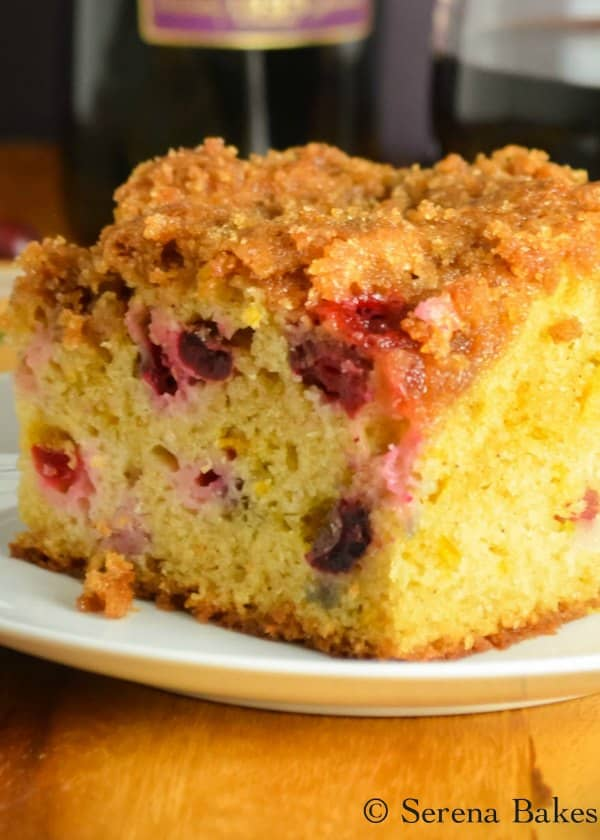 Cranberry Orange Coffee Cake with Brown Sugar Crumb is a favorite fall dessert. This Cranberry Cake recipe is a favorite for Thanksgiving and Christmas! It's also great for brunch from Serena Bakes Simply From Scratch.