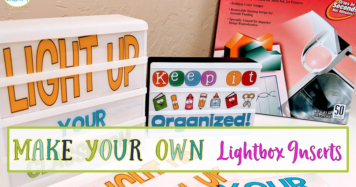 Light Up Your Room With A Lightbox Crockett S Classroom