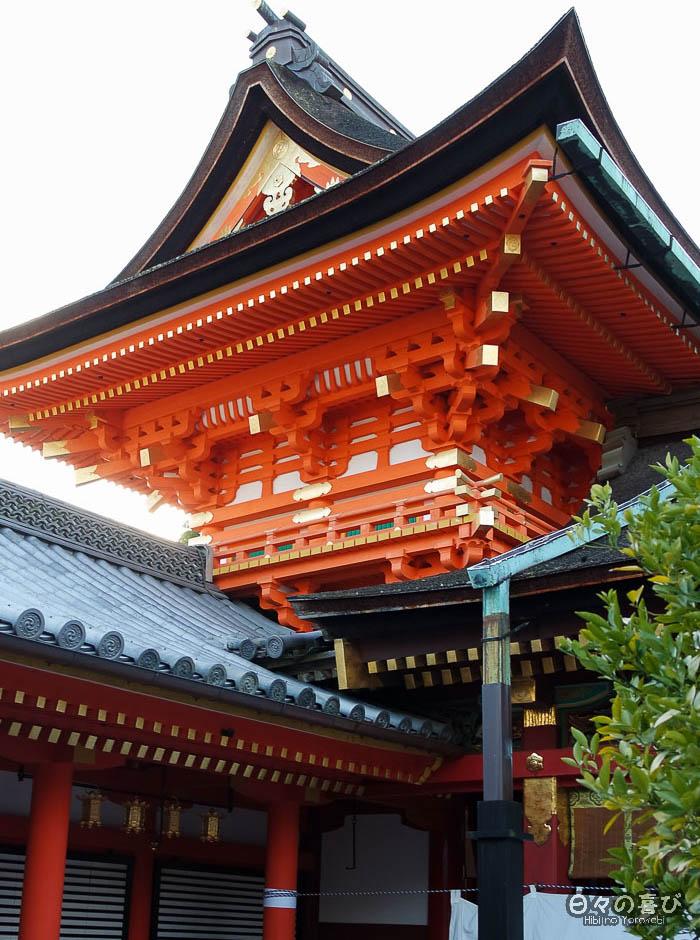 vue sur les toits, sanctuaire Iwashimizu Hachiman-gû, Yawata