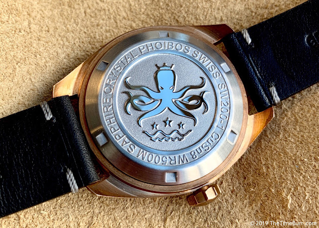 Phoibos Eagle Ray Bronze Black case back