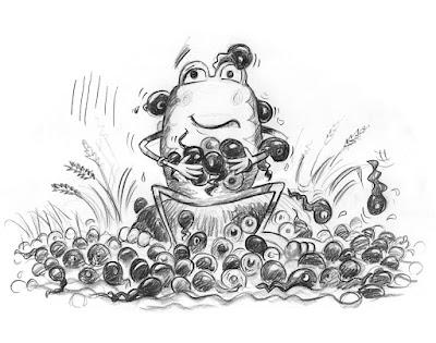 sketch showing Bug Belly book development