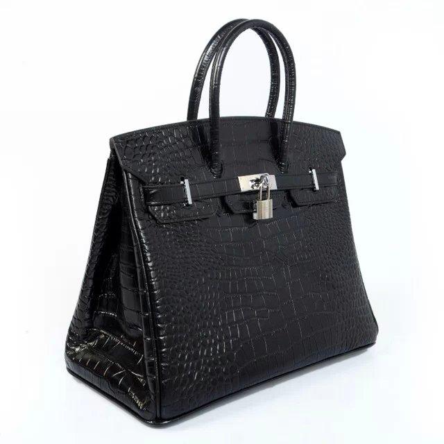 2a687d01bb ... cheapest hermes black crocodile birkin with stunning hardware 1ddd1  364b5 uk hermes birkin bag 35cm black matte alligator ...