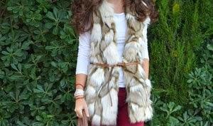 4 maneras de llevar... un chaleco de pelo beige
