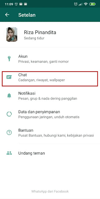 pengaturan chat whatsapp