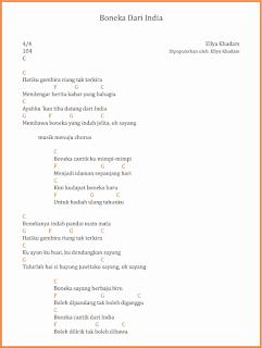 chord boneka dari india lagu dangdut ellya khadam