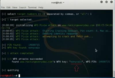 Silahkan tunggu proses hack wifi nya