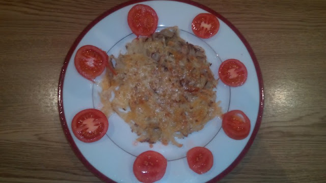 Grated potatoes-gluten-free and vegan dish