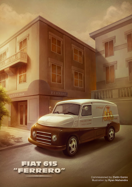 fiat, fiat 615, ferrero, illustration, drawing, ryan mahendra
