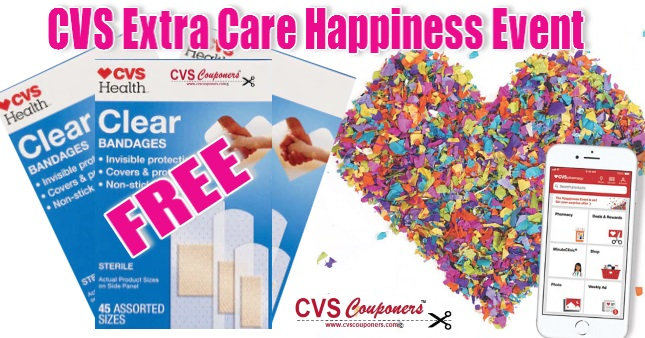 CVS Extra Care Happiness Event - FREE Bandages