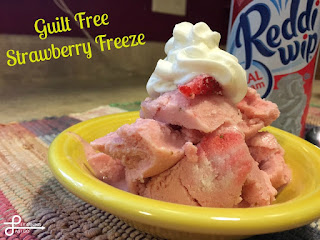 Country Fair Blog Party Blue Ribbon Winner: Learning As I Go's Guilt Free Strawberry Freeze