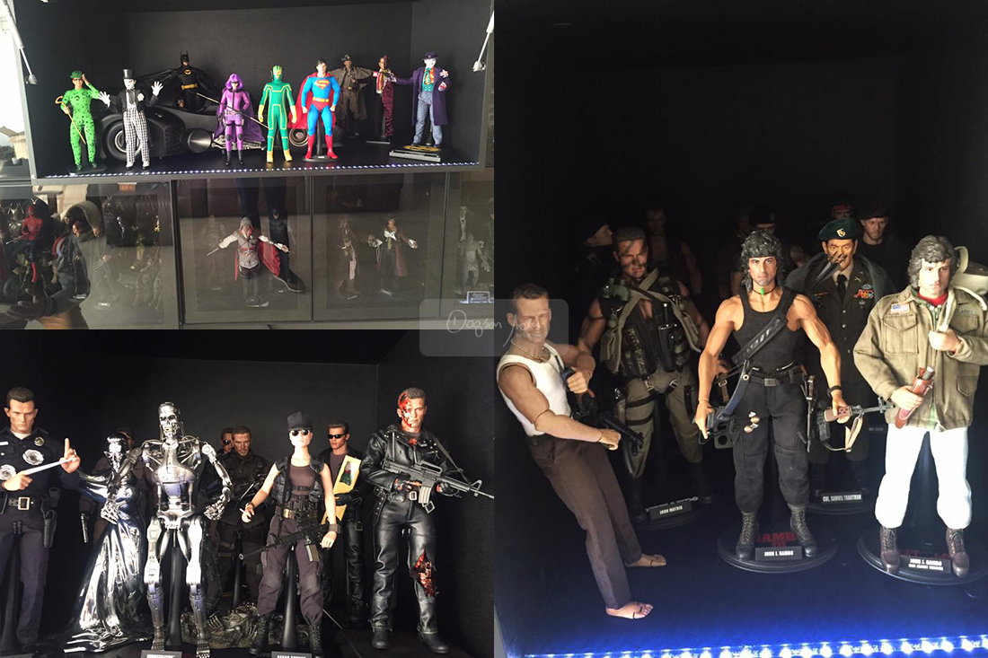 Destaque na estante do home cinema é a coleção de action figures