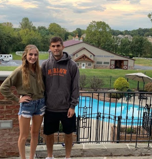 Christian Pulisic with his sister Devyn Pulisic