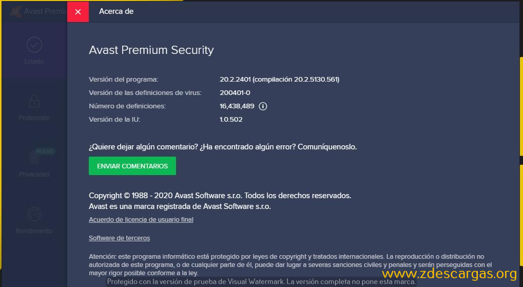 Avast Premium Security 2020 Full Español