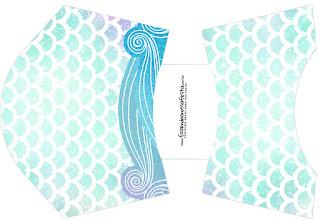 Mermaid: Free Printable Boxes.