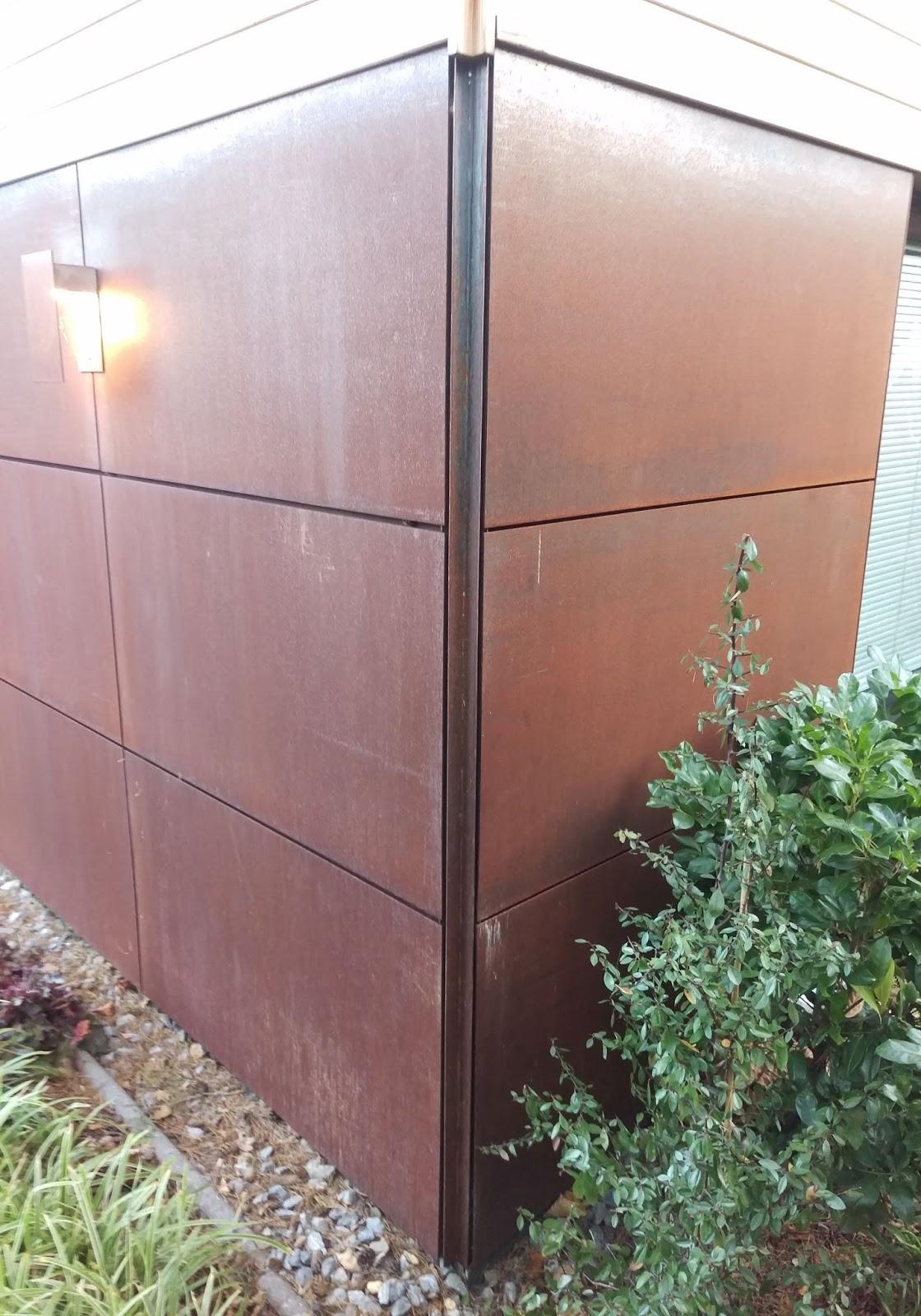 Corten Fassade Wandverkleidung Frobel Metallbau