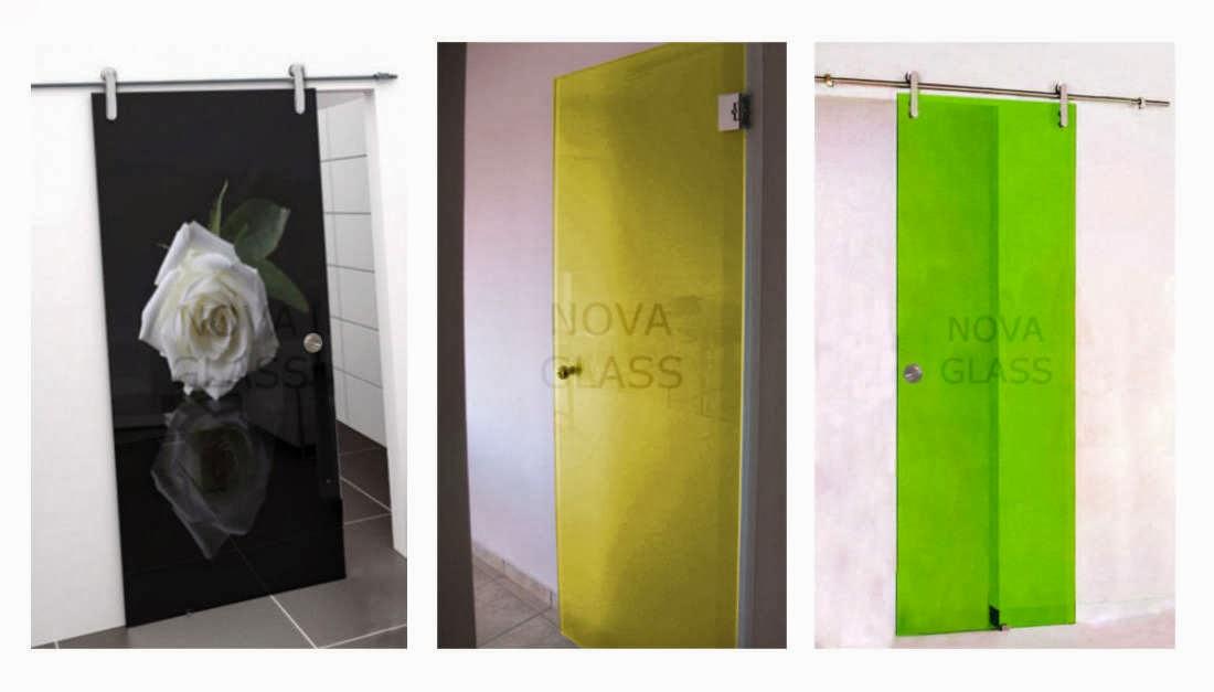 Γυάλινες πόρτες με κρύσταλλο triplex και με ψηφιακή εκτύπωση
