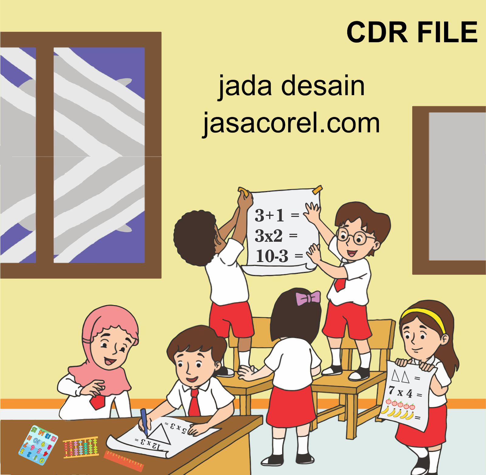 Mirzan Blog S 20 Ide Gambar Kartun Anak Sd Sedang Ujian