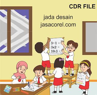 Download Kartun anak SD CDR