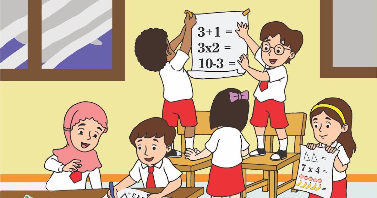Vektor Anak Sekolah Dasar