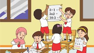 Kartun Anak SD - CDR Vector