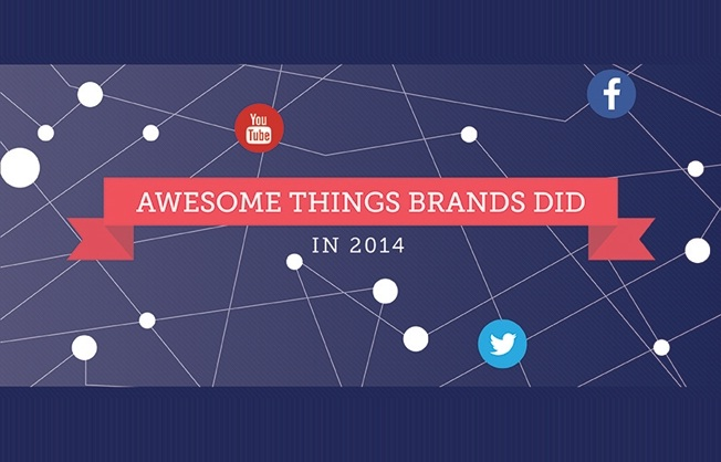 Awesome Things Brands Did On YouTube, Facebook & Twitter In 2014 - #infographic