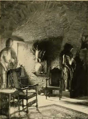 Un angolo della cripta al castello di Glamis.
