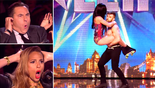Billy and Emily performing at Britain's Got Talent