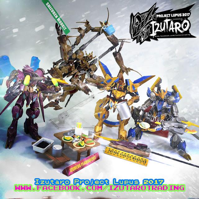 Izutaro Project Lupus 2017: Dark Angeltaromon - HGIBO 1/144 Gundam Barbatos Lupus Rex Custom Paint by Putra Shining