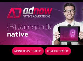 Adnow alternatif adsense yang cocok untuk blog gado-gado dan portal berita