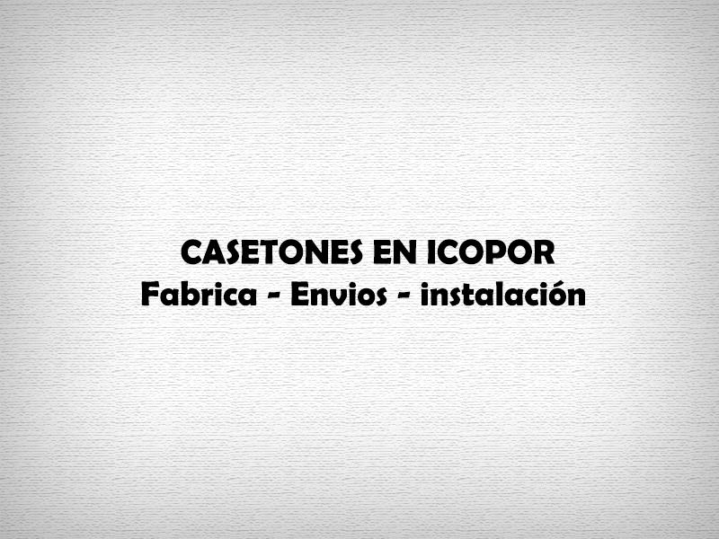 casetones en icopor Bogota