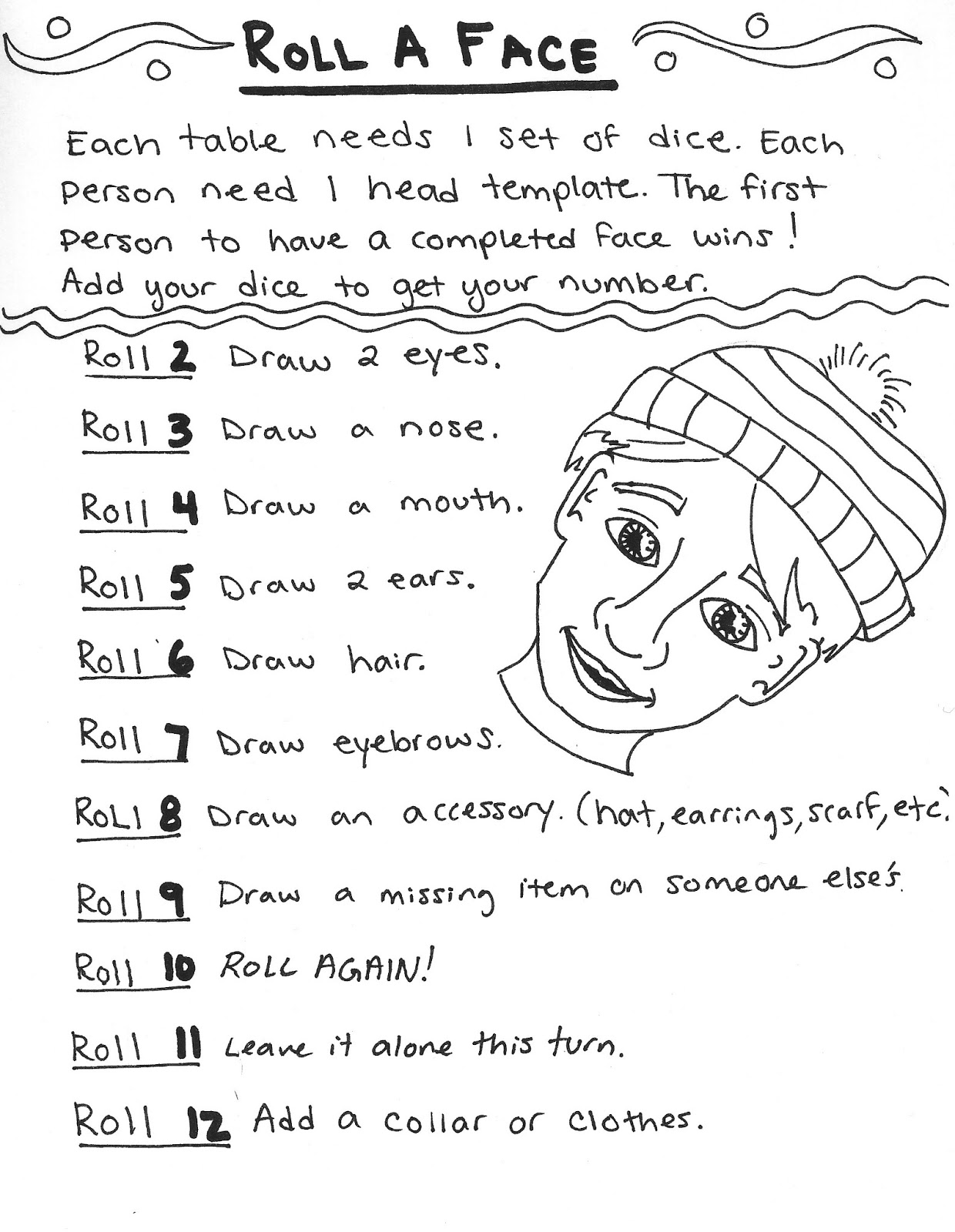 The Art Creature Roll A Face Game