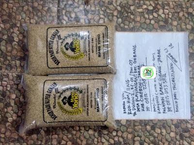 Benih padi yang dibeli ROKHIM Cirebon, Jabar. (Sebelum packing karung ).