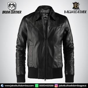 Jual Jaket Kulit Asli Garut Pria Domba Original Brida Leather B13 Bomber   WA 08813430588