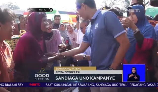 Para Pedagang Heboh Saat Sandiaga Uno Mengunjungi Pasar Wonodri dan Peterongan